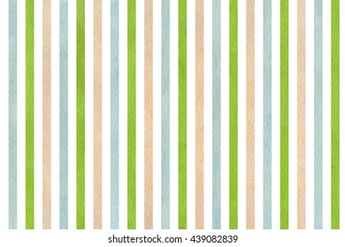 Watercolor beige, green and blue striped background. Abstract watercolor background with beige, green and blue stripes.