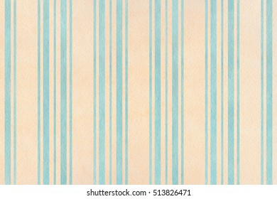 Watercolor blue and beige striped background. Watercolor geometric pattern.