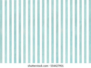 Watercolor blue striped background. Watercolor geometric pattern.