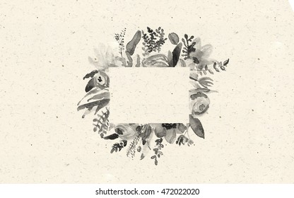 watercolor border desaturated