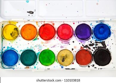 Watercolor in a box.