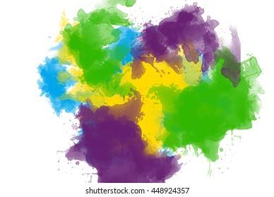 Watercolor brazilian splash color
