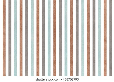 Watercolor brown, gray and blue striped background. Abstract watercolor background with brown, gray and blue stripes.
