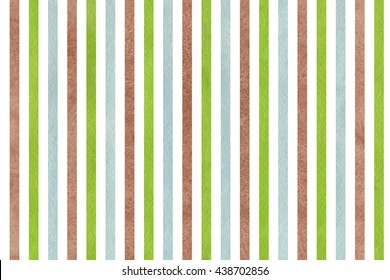 Watercolor brown, green and blue striped background. Abstract watercolor background with brown, green and blue stripes.