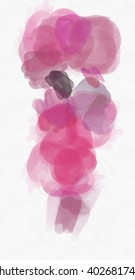 Watercolor brush strokes on paper texture. Support for design