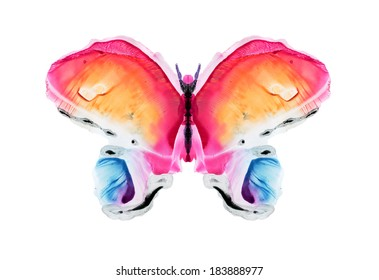 watercolor butterfly- Abstract watercolor pattern, my own artwork.