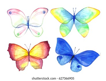 Watercolor Butterfly Handmade