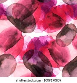watercolor circles seamless pattern. Rounds abstract. Watercolor Dots Background. Watercolor Digital Paper, Watercolor Circles, Dots.