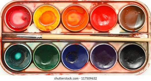 watercolor color palette background