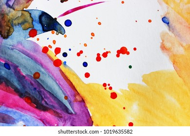 Watercolor colorful abstract background or Flower, Spring time