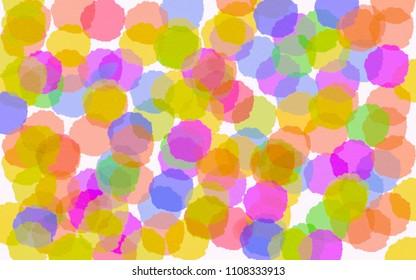 Watercolor colorful dot background , kids art concept.