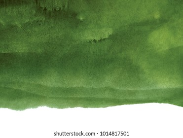 watercolor dark green background, shades of color