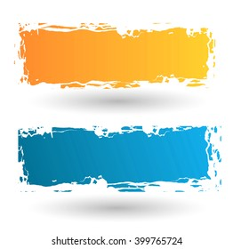Watercolor design frames. Colorful illustration.