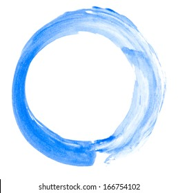 watercolor doodle circle on white