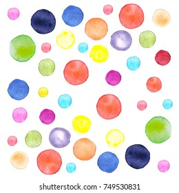 Watercolor Dot Background. Colorfull