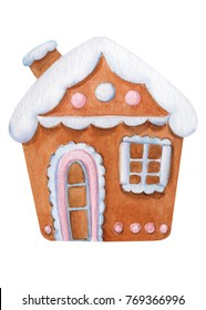 watercolor fairy gingerbread house