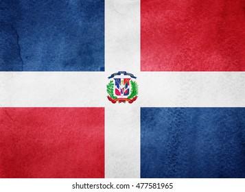 Watercolor flag background. Dominican Republic
