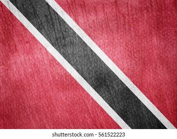 Watercolor flag background. Trinidad and Tobago