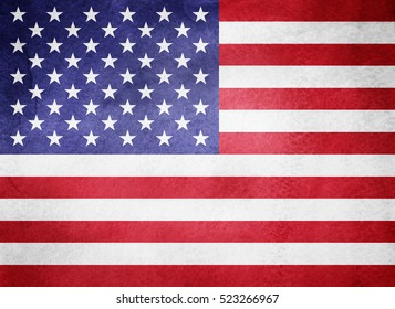 Watercolor flag background. USA