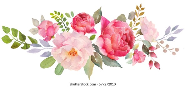 Watercolor flowers images stock photos vectors - High resolution watercolor flowers ...