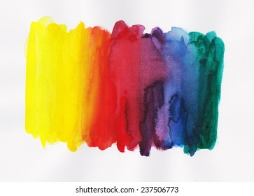 Watercolor hand paint colorful background
