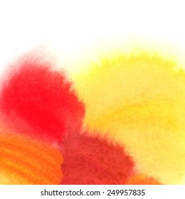 Watercolor hand painted colorful background, abstract texture