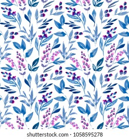 "Watercolor illustration of ""Meadow grass"". Seamless pattern. Excellent pattern for printing on fabric, cloth, wallpaper and other surfaces."