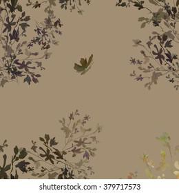 watercolor illustration seamless pattern Butterfly Meadow - 7