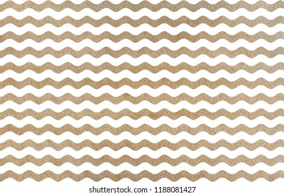 Watercolor khaki wavy striped pattern. Watercolor geometric pattern.