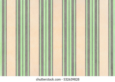 Watercolor mint, gray and beige striped background.