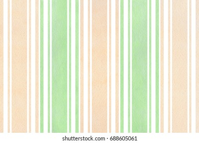 Watercolor mint green and beige striped background.