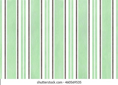 Watercolor mint green and gray striped background.