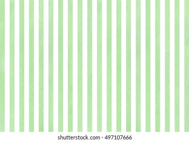 Watercolor mint green striped background.