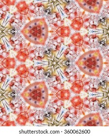 Watercolor Monotype Kaleidoscope seamless pattern