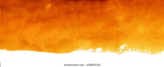 watercolor orange background, color artistic spot