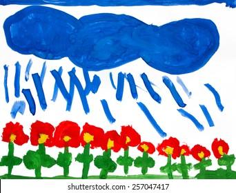 watercolor paint flowers