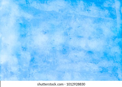 Watercolor painting, Abstract artistic frame, place for text or logo. Blue tone.