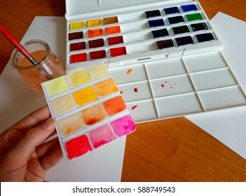 watercolor painting process