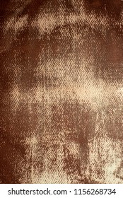 Watercolor paper painted sepia and destroyed by the weather. For background or texture