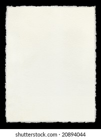 Watercolor paper with true deckled edges.  For the same image with a green border see Image ID:375454540.