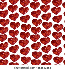 Watercolor seamless pattern with hand painted hearts. Valentines day illustration.Seamless pattern. Love. Valentine heart pattern.Hand drawn red hearts.
