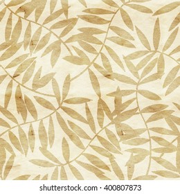 Watercolor seamless pattern on leaves. Can be used for wallpaper, pattern fills, web page background,surface textures, fabric. Seamless leaf pattern.Leaf background. leaf pattern.