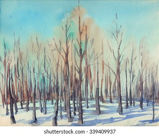 Watercolor sketch: The Awakening Forest