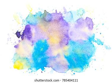watercolor splash stroke background.art by drawing