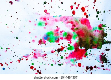 Watercolor splashes on white background