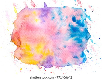 watercolor stain background. art hand paint