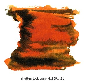 watercolor stain square