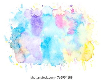 watercolor stains bright background.art hand painted splash by brush