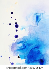 Watercolor texture on paper close-up