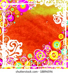Watercolor vector  abstract background with circles JPG (See Vector  Also In My Portfolio)